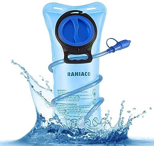 Raniaco Bolsa de Agua Portátil de 2 Litro, Bolsa de Agua Deportiva para Usos en Espacios Exteriores*