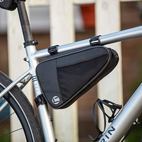 CCKOLE Bolsa para cuadro de bicicleta, impermeable, con marco triangular, resistente a la rotura, para tubo superior de bicicleta MTB de carreras, bolsa triangular de 1 L
