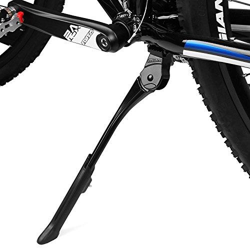 BV Pata de Cabra Ajustable para Bicicleta con Resorte Oculto, para Bicicletas de 24-29', Negro