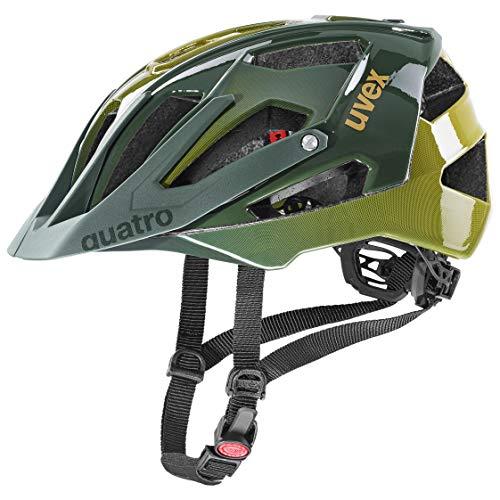 uvex Quatro Casco de Bicicleta, Unisex-Adult, Forest-Mustard, 52-57 cm*