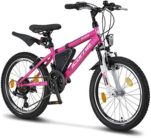 Licorne Bike Guide Bicicleta de montaña de 20 Pulgadas, Cambio de 18 velocidades, suspensión de...*