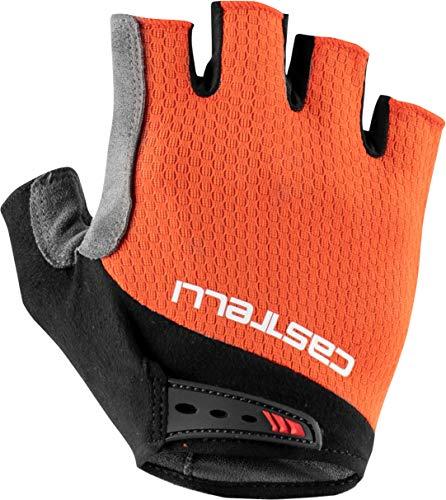 CASTELLI Entra V Glove - Guantes de ciclismo para hombre, Hombre, 4521075-656, fiery red, S