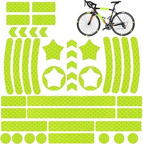 QIMMU 42 Piezas Pegatina Reflectante Bicicleta,Adhesivos Reflectantes Casco,Pegatina Reflectante...*