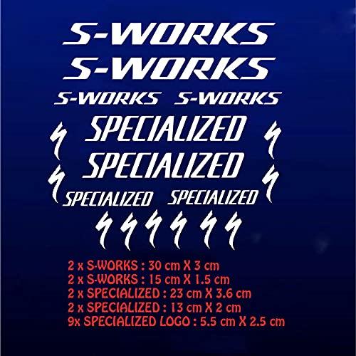 Ksnrang Marco de Bicicleta S-Works Pegatinas Especializa Bicicleta de Carretera Montaña MTB DH XC...*