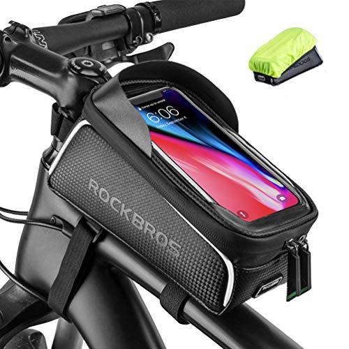 ROCKBROS Bolsa de Cuadro de Bicicleta MTB Montaña Carretera con Pantalla Táctil para Teléfono Móvil 6,5 Pulgadas para iPhone 11 XS MAX XR