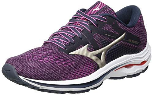 Mizuno Wave Inspire 17, Zapatillas para Correr Mujer, Indiai Pgold Ignitionred, 40 EU