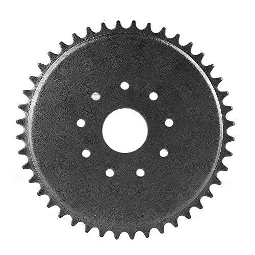 Piñón de cadena, piñón de cadena de 9 orificios y 44 dientes para bicicleta motorizada 49cc 66cc 80cc