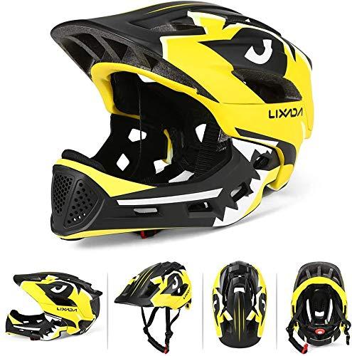 BMX Casco Infantil Integral para Ciclismo Enduro. Totalmente Ajustable con Mentoner Desmontable....*
