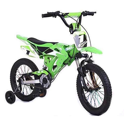 Huachaoxiang Bicicletas Niños, Motocicleta Diseño De Bicicletas Los Niños con Guardabarros Y...*