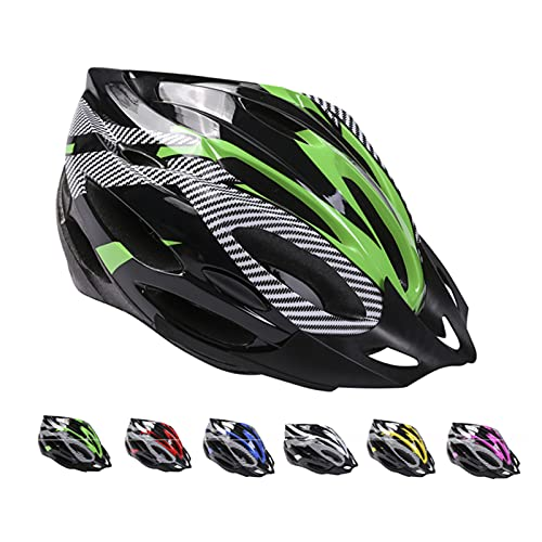 Casco de Bicicleta de Montaña, Casco de Bicicleta para Adultos Casco Ajustable con Visera Extraíble Casco de Bicicleta MTB City Specialized para Bicicleta de Montaña y para Hombres y Mujeres Verde