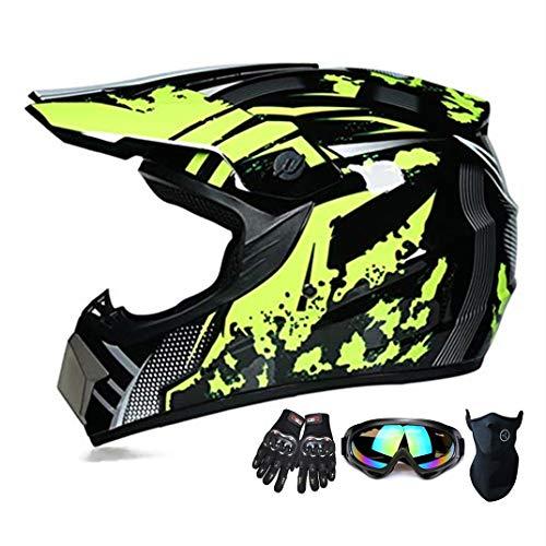 Suciedad casco de la motocicleta ATV SUV casco de la Casco + gafas + guantes de la bici de descenso...*