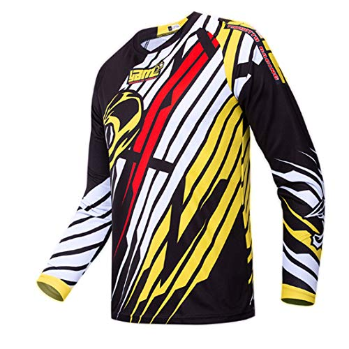 Maillot de Ciclismo para Hombre Camisa de Manga Larga MTB Camisa de Manga Larga Traje de Carreras...*