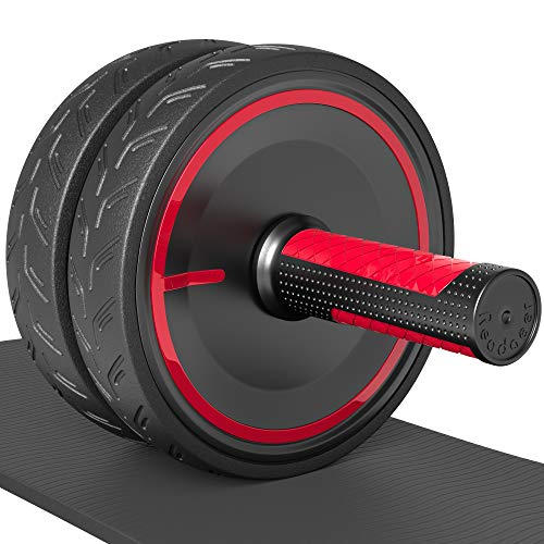 Readaeer AB Roller Rueda de abdominales para flexiones ,rodillo de rueda para abdominales con doble rueda,ejercicio en casa