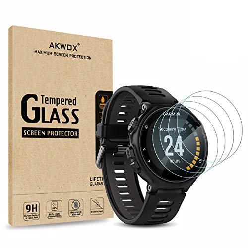 AKWOX [4 Unidades] Protector de Pantalla para Garmin Forerunner 735XT [9H Dureza] Cristal Vidrio...*