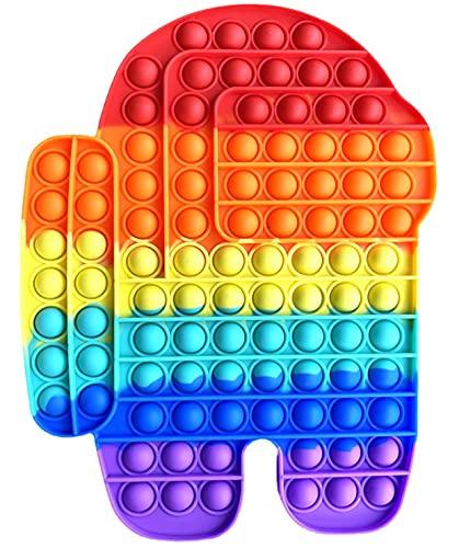NF ROADTOLOVE Fidget Toy Juguete Antiestres Pop It Among us Gigante Sensorial para Niños y Adultos Bubble Push Juguetes Antiestrés de Explotar Burbujas para Aliviar estrés y Ansiedad Grande