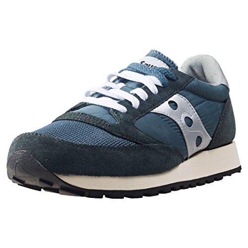 Saucony Jazz Original Vintage, Zapatillas de Cross Unisex Adulto, Azul (Blue/Navy/Silver 4), 44 EU*
