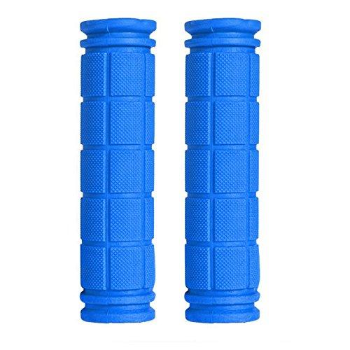 Cubierta Suave De Goma Del Manillar De Agarre Antideslizante Para Fixie MTB Azul De La Bicicleta