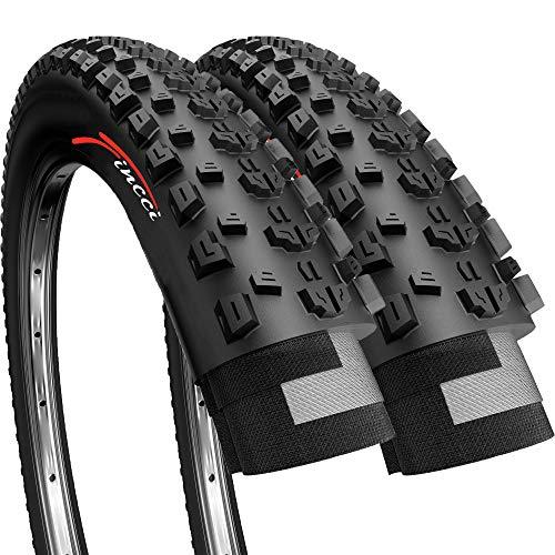 Fincci Par 26 x 1.95 Pulgados 50-559 Plegable Cubiertas para MTB Montaña Fuera del Camino Hibrida Bici Bicicleta (Paquete de 2)