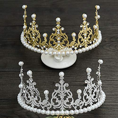 Pu ran Faux Pearl Tiara - Cinta para la frente, diseño de diamantes