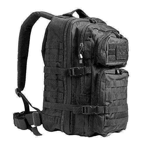 Pack de asalto MOLLE táctico con mochila de patrulla 36L, Negro*