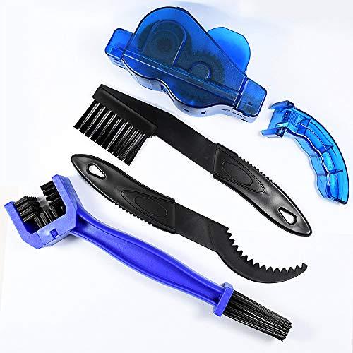 Gurxi 4 Piezas Kit Completo de Limpieza para Cadena de Bicicleta Profesional Cepillo de Limpieza...*
