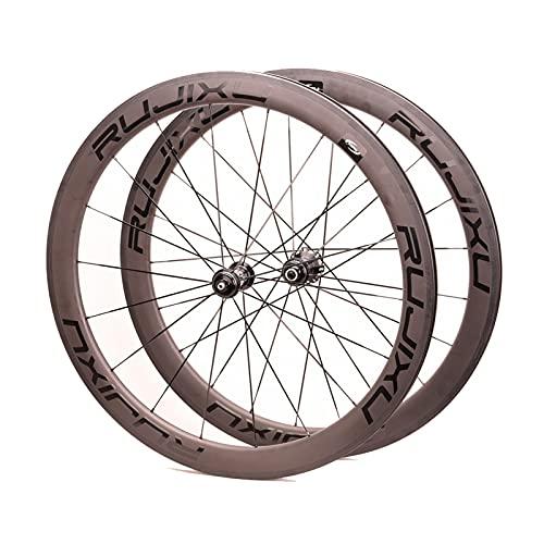 zyy Ruedas de Bicicleta de Carretera 700C Full Carbon Fibre Carbono Versión 38/50mm QR Disc Brake 8/9/10/11 Velocidad 1810g 9x100/ 9x135MM (Color : Center Lock, Size : 50mm)