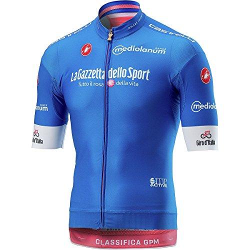 Maillot de Ciclismo de Manga Corta Castelli 2018 Giro Race Azul*