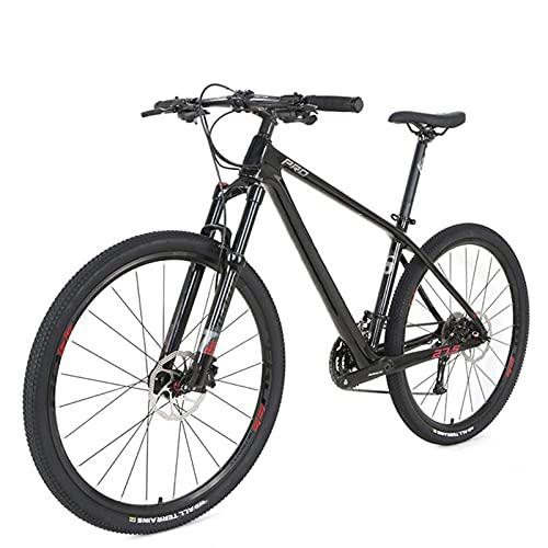Clouds Bicicleta de montaña de 29 Pulgadas de Fibra de Carbono, Bicicleta de montaña de Lujo de 30 velocidades, Bicicletas de Carreras con Freno de Disco Doble, Unisex para entusiastas del Ciclismo