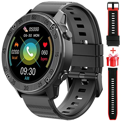 Blackview X5 Smartwatch Relojes Inteligentes Hombre, Reloj Inteligente con Pulsómetro, Cronómetros, Calorías, Monitor de Sueño, Impermeable IP68 Reloj Deportivo para Android iOS