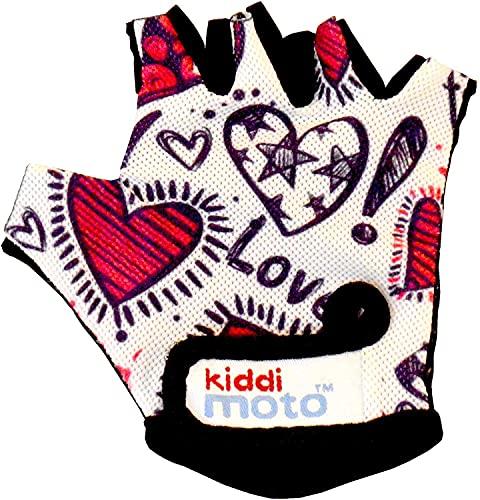 KIDDIMOTO Guantes de Ciclismo sin Dedos para Infantil (niñas y niños) - Bicicleta, MTB, BMX,...*