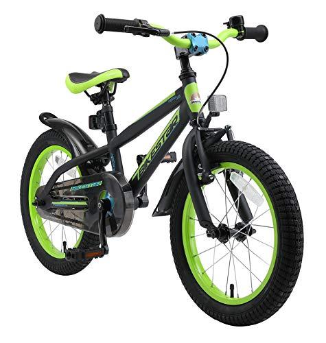 BIKESTAR Bicicleta Infantil para niños y niñas a Partir de 4 años | Bici de montaña 16 Pulgadas con Frenos | 16' Edición Mountainbike Negro