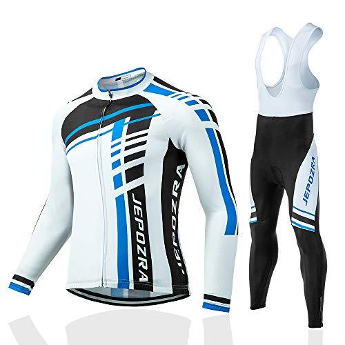 JEPOZRA Traje Ciclismo Hombre Verano Conjunto Bicicleta Ropa MTB Maillot Bici Manga Larga y Pantalon...*
