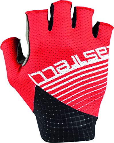 CASTELLI Guantes de ciclismo para hombre Competizione Glove, Hombre, 4520035-023, rojo, XX-Large