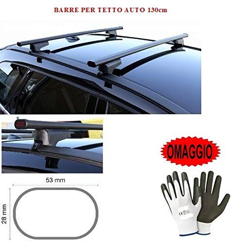 Compatible con Dacia Lodgy 5p 2014 Bares Racks DE Techo para Techo DE Coche 130CM Barra DE Coche DE Barrera Alta Y Baja FIJADA Completamente AL Rack DE Techo Rack DE Acero Negro