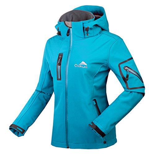 CIKRILAN Mujer Chaqueta Softshell Resistente al agua chaqueta al aire libre Ladies Deportes Camping...*