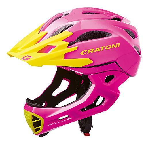 Cratoni C-Maniac BMX Freeride Downhill - Casco integral para BMX (54-58 cm), color rosa y amarillo*