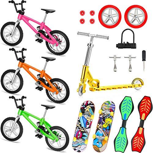 Juego de 18 Mini Juguetes de Dedos Patinetas de Dedo Moto Bicicletas de Dedo Tabla de Oscilación...*