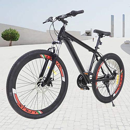 Bicicleta de montaña de 26 pulgadas, bicicleta de trekking para exteriores, 21 velocidades, para niños, para hombre y mujer.
