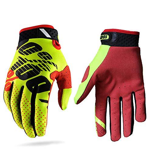 Guantes de carreras de motocross para hombres y mujeres; guantes deportivos con dedos completos en...*