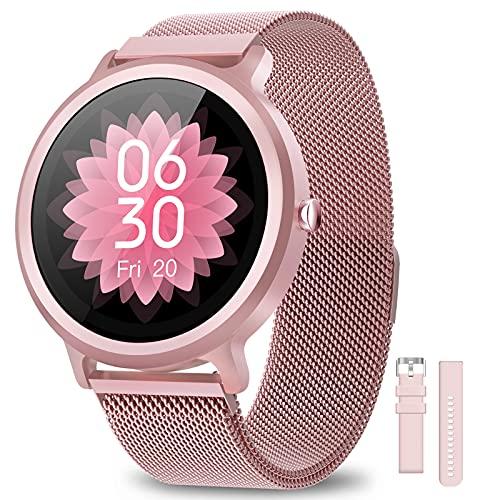 NAIXUES Smartwatch Mujer Reloj Inteligente IP68 con 24 Modos de Deporte, Pulsómetro, Monitor de...*