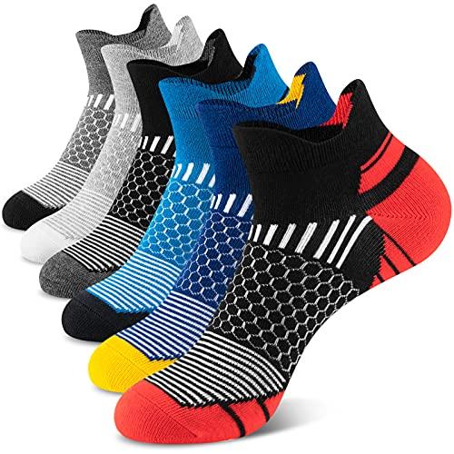 Onmaita Calcetines deportivos para hombres y mujeres, 6 pares de calcetines deportivos cortos para...*
