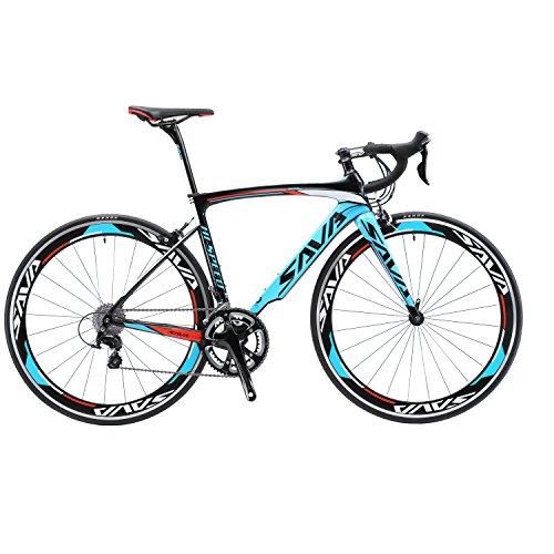 Sava Bicicleta de Carretera de Fibra de Carbono 700C Shimano 5800 22-Velocidad Sistema Modelo...*