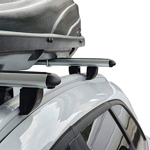accessorypart Compatible para Dacia Lodgy MPV 2012-2021 Barras de techo Portaequipajes Aluminio Gris modello alto