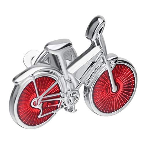 Hellery Broche Pin Cobre Forma de Bicicleta Broche Pin joyería Chaqueta Bufanda Collar Bolsa Regalo reemplazos