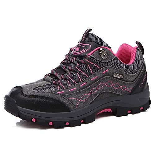 REBEST Botas de montaña para Mujer y Hombre Calzado de montaña, Zapatillas de Senderismo Impermeables Antideslizantes con Cordones, Ligeras y Transpirables, Ideal for All Season Hiking & Trekking