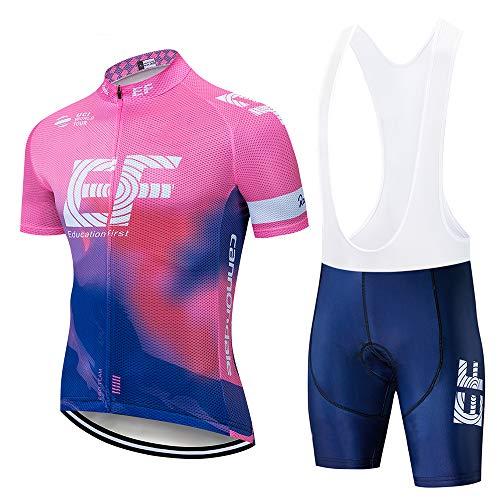 Maillot Ciclismo Corto para Hombre, Ropa Culote Conjunto Traje Culotte Deportivo con 5D Almohadilla De Gel para Bicicleta Ropa Ciclista MTB Bici