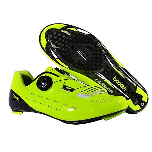 Zapatillas de Bicicleta Montaña Fibra Carbono Calzado Bicicleta Zapatos de Bicicleta...*