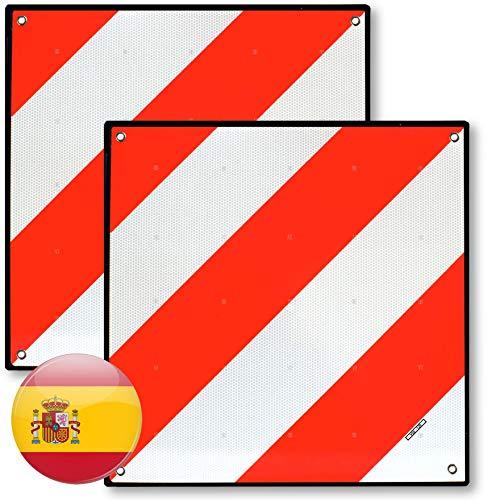 MAGMA 2 Señales V20 Homologada, Placa V20 Portabicicletas y Carga Saliente, Panel V-20 Plástico...*