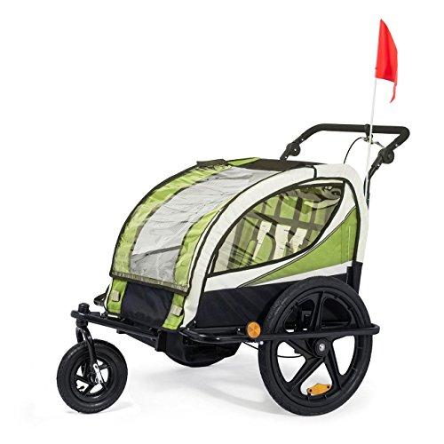SAMAX Remolque de Bicicleta para Niños 360° girable Kit de Footing Transportín Silla Cochecito...*