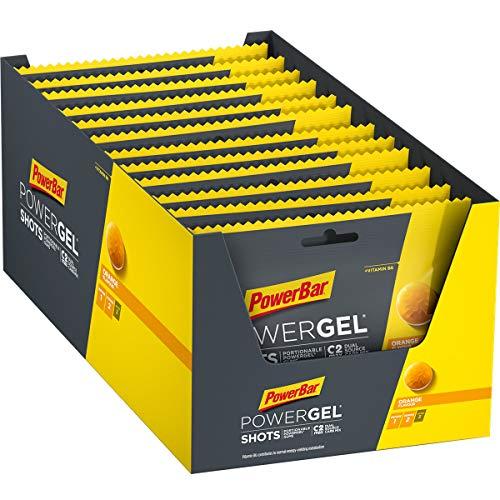 PowerBar Powergel Shots Naranja 24 x 60G - Carbono de Alta Energía + Neumáticos C2Max 1440 g*
